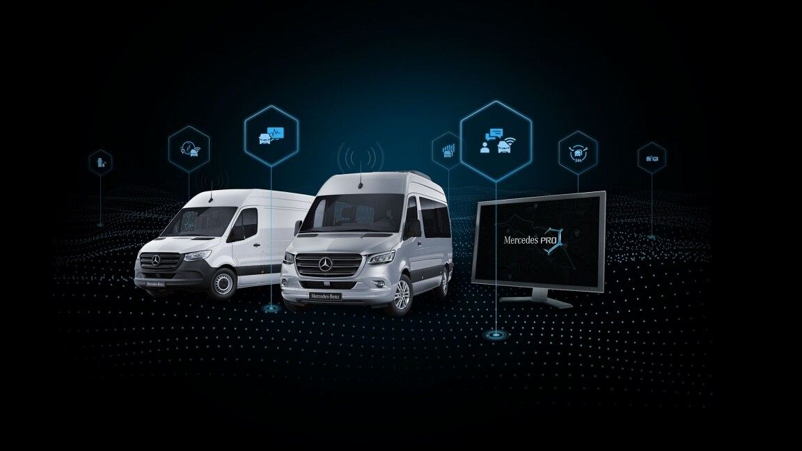 The components of Mercedes PRO connect