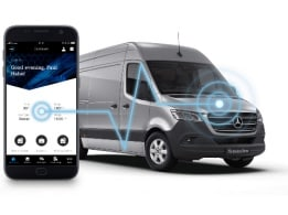 The communication module stylised in the new Mercedes-Benz Sprinter