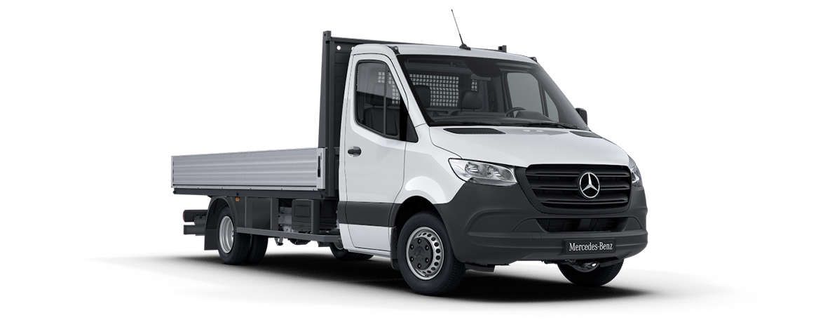 Sprinter Dropside Artic White