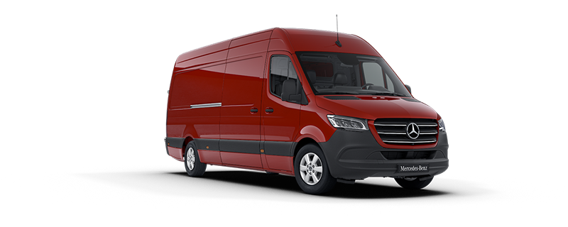 Sprinter Panel Van, Jupiter red